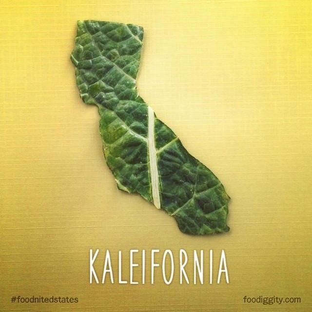 Калифорния  - от слова kale   - морская капуста