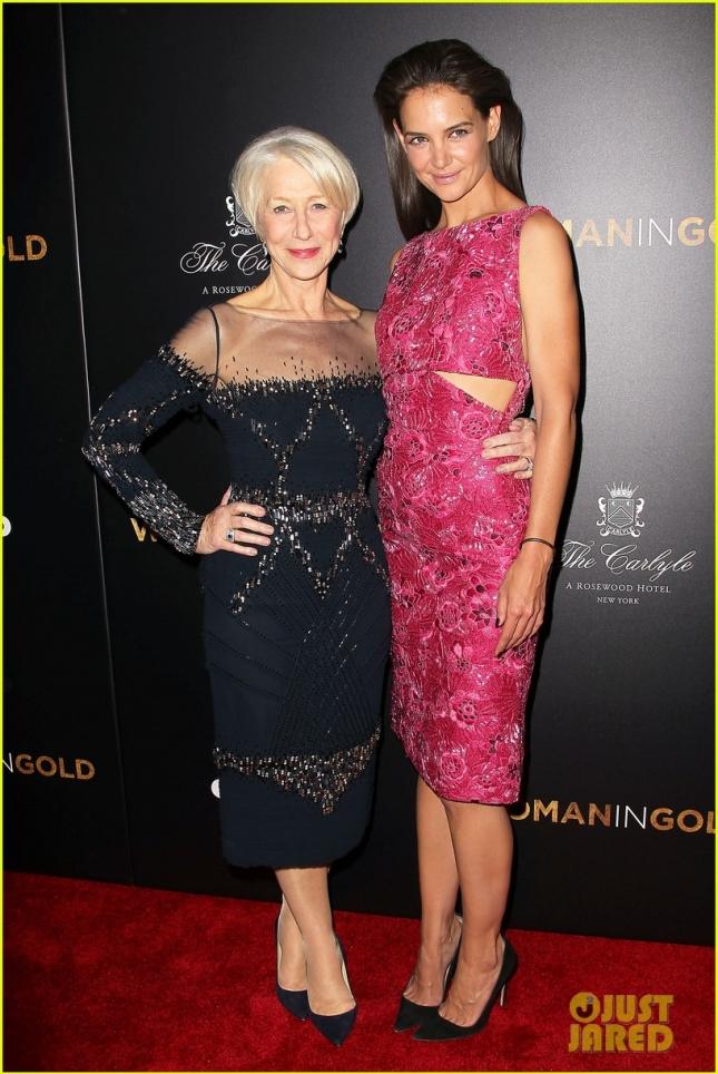 """Хелен Миррен и Кэти Холмс на премьере фильма """"Женщина в золотом"""""""