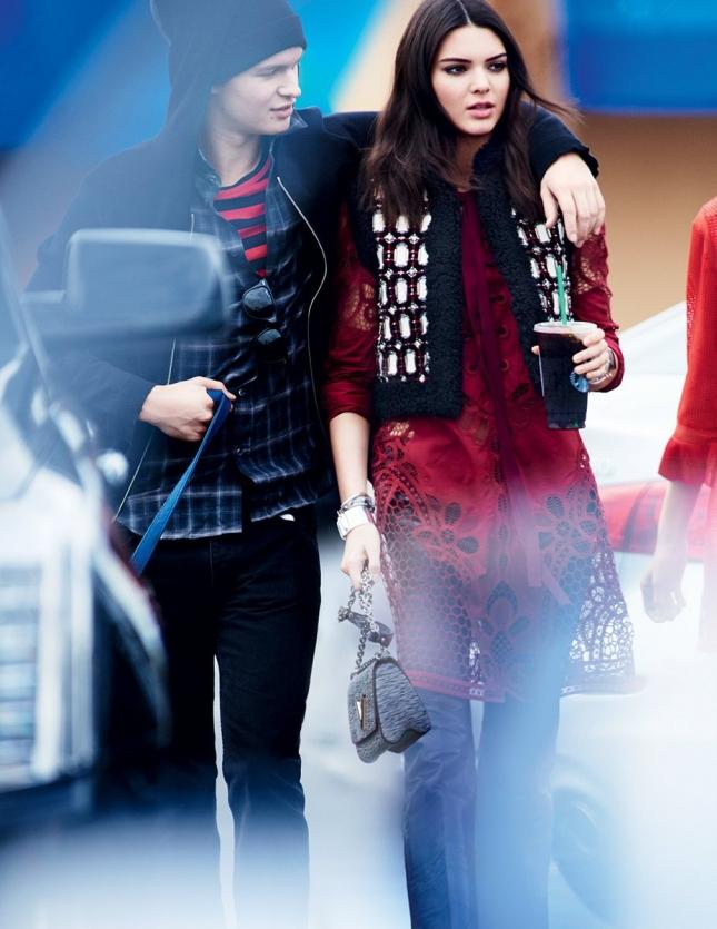 Энсел Элгорт и  Кендалл Дженнер для Vogue США