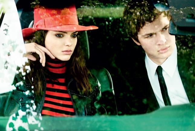 Кендалл Дженнер и Энсел Элгорт для Vogue США