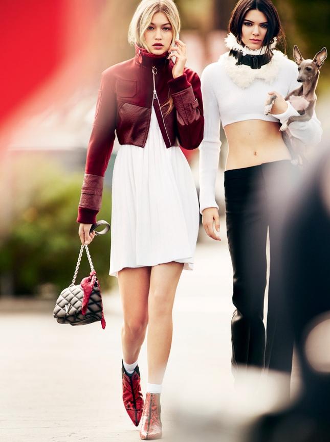 Джиджи Хадид и Кендалл Дженнер  для Vogue США
