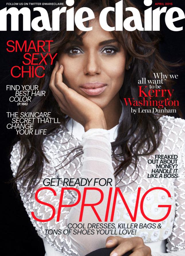 Керри Вашингтон на обложке Marie Claire US, апрель 2015