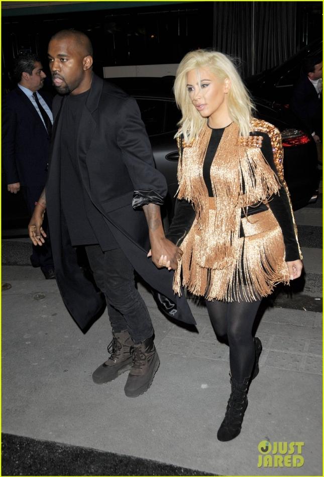 Ким Кардашьян и Канье Уэст поужинали вместе с Кендалл Дженнер и Джиджи Хадид в Париже