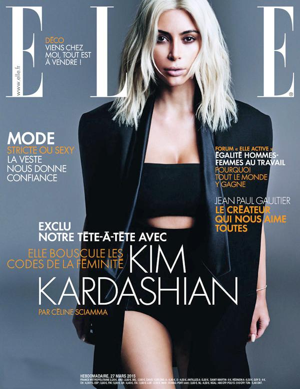 Ким Кардашьян на обложке Elle Франция
