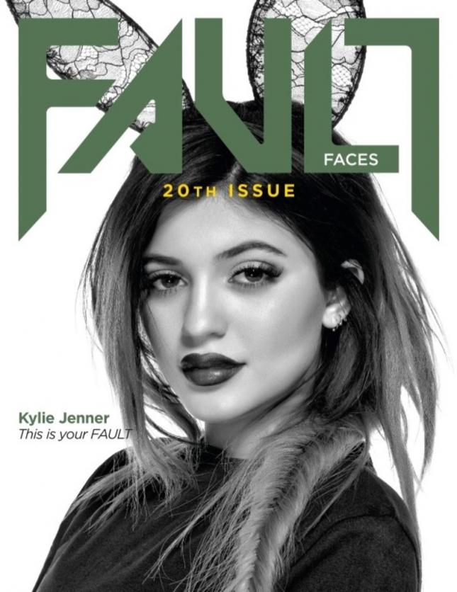 Кайли Дженнер на обложке Fault Faces