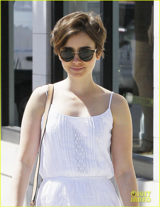Exclusive... Lily Collins Shopping In Beverly Hills