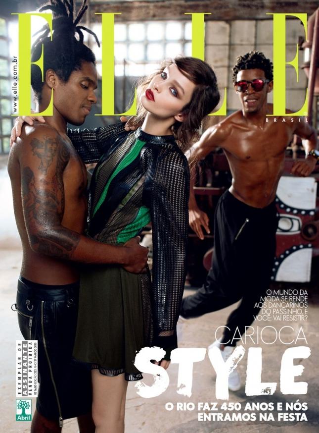 Лума Гроте на обложке Elle Бразилия
