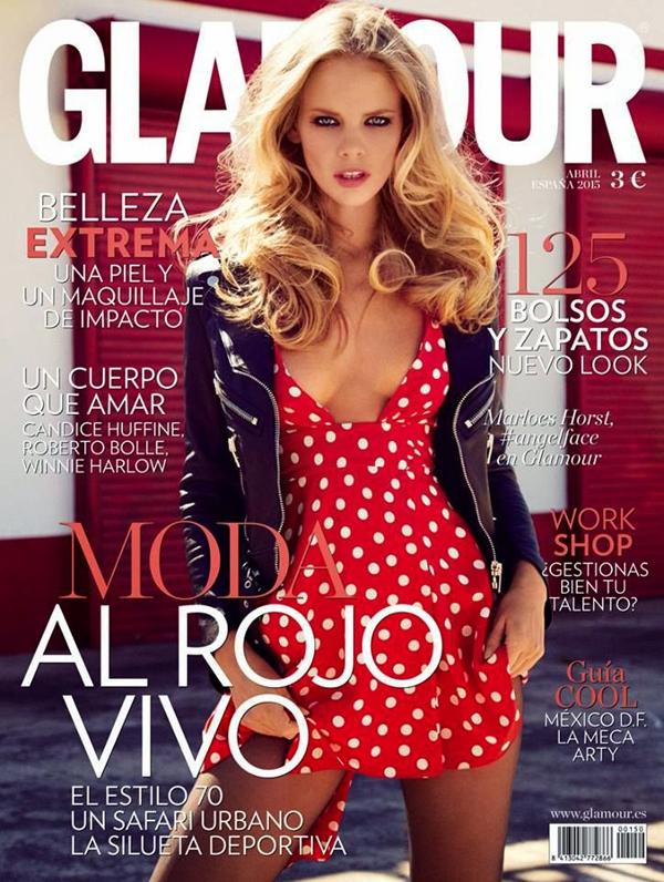 Марло Хорст на обложке Glamour Испания, апрель 2015