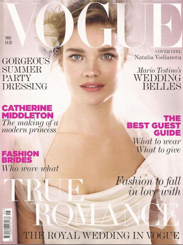 Наталья Водянова на обложке Vogue UK, май 2011