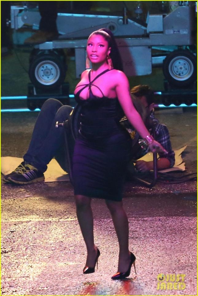 Nicki Minaj films a music video with choreographer Casper Smart