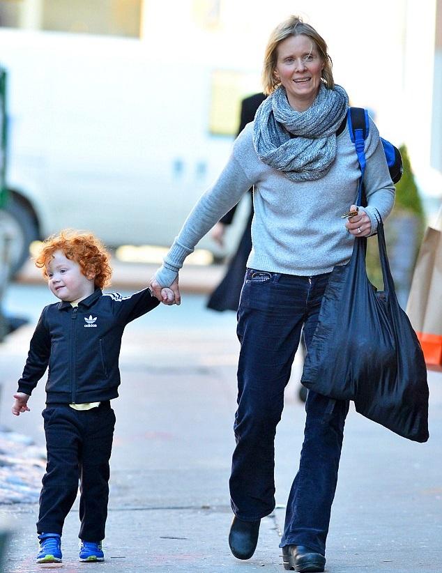 Синтия Никсон с сыном
