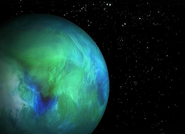 Планета – стекло, вода и пищевые красители . Звёзды – соль, корица, разрыхлитель для теста.
