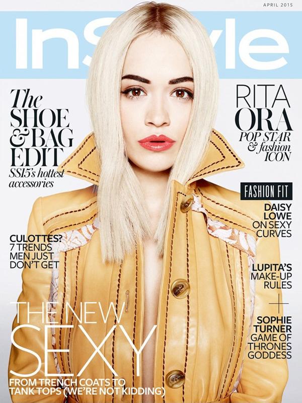 Рита Ора на обложке InStyle UK, апрель 2015