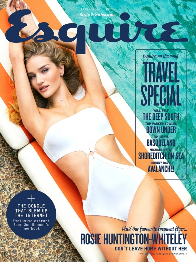 Роузи Хантингтон-Уайтли на обложке Esquire UK, апрель 2015