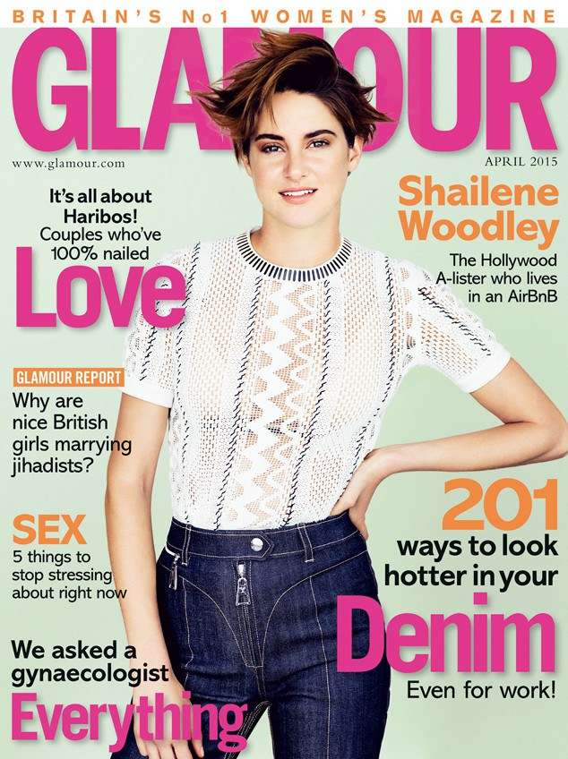 Шейлин Вудли на обложке Glamour Британия