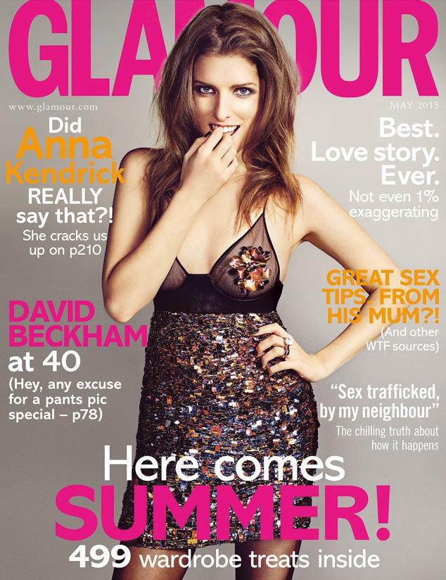 Анна Кендрик на обложке Glamour, май 2015