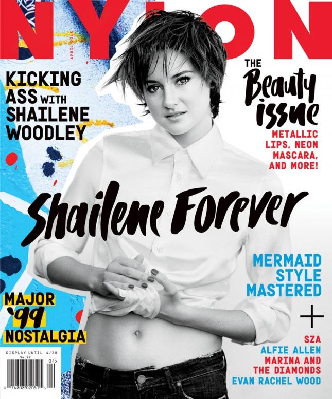 Шейлин Вудли на обложке Nylon, апрель 2015