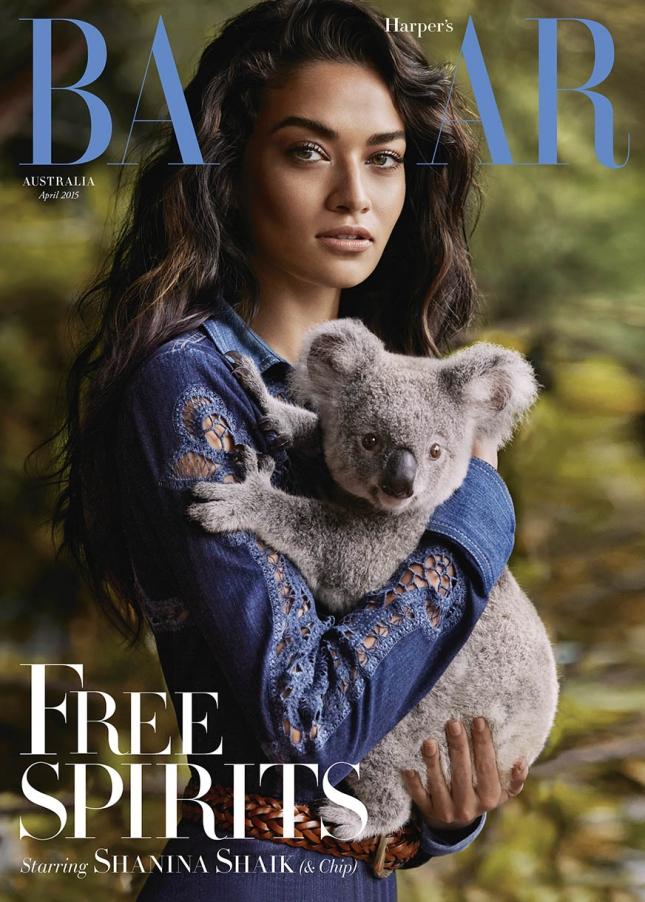 Шанина Шейк на обложке Harper's Bazaar Австралия, март 2015