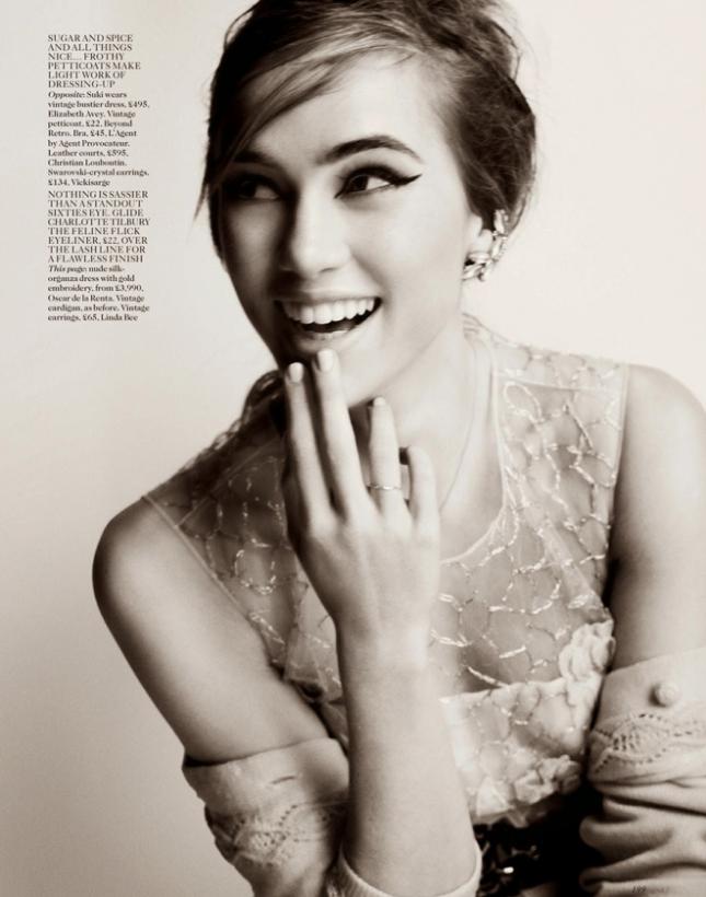 Суки Уотерхаус  в фотосессии для Vogue UK