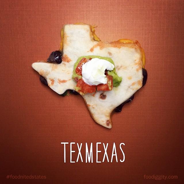 Техас- зашифрована фраза текс-мекс, мексиканская кухня.