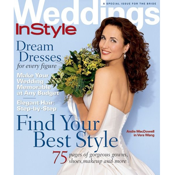 Энди Макдауэлл на обложке InStyle Weddings
