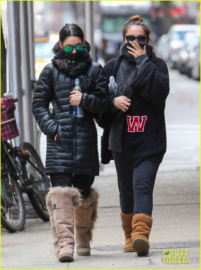 Vanessa Hudgens Braves The Cold For A Gym Trip