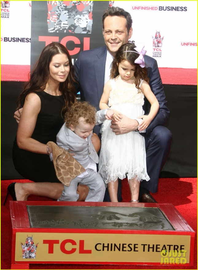 Vince Vaughn Hands and Footprints Ceremony in Hollywood