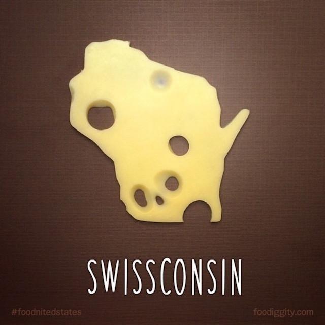 Bисконсин - зашифровано слово швейарский сыр