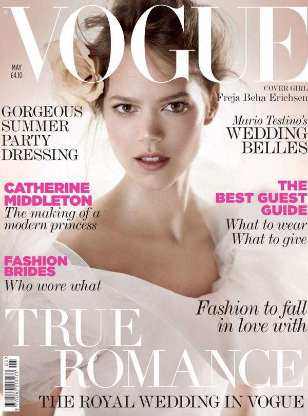 Фрея Беха Эриксен на обложке Vogue UK, май 2011