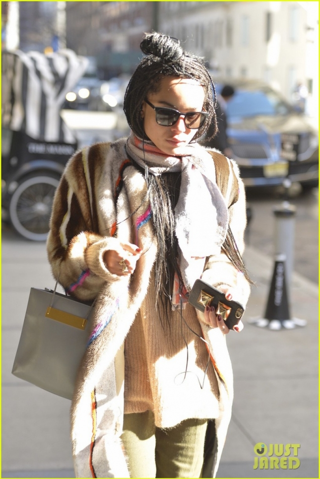 Zoe Kravitz seen out and about in NYC