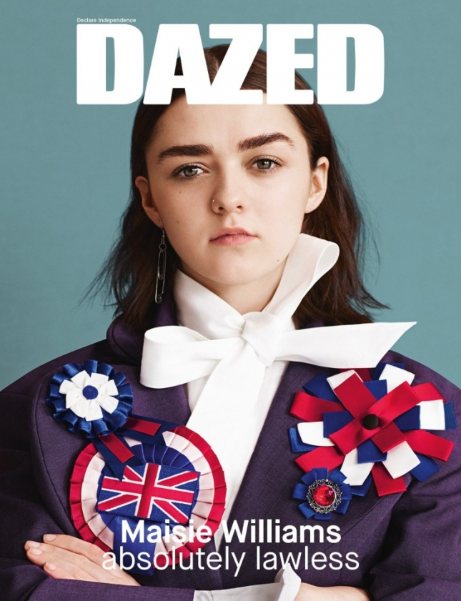 Мэйси Уильямс на обложке весенне-летнего Dazed