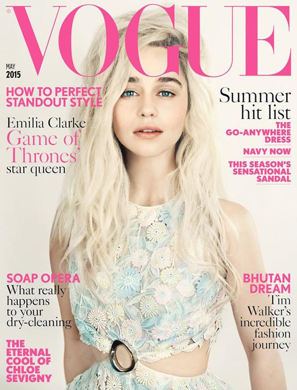 Эмилия Кларк на обложке Vogue UK, май 2015