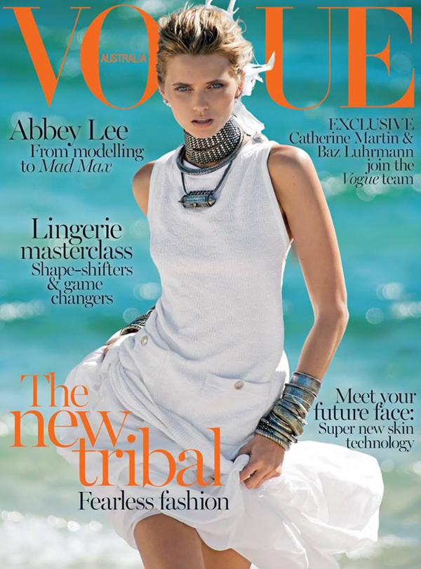 Эбби Ли Кершоу на обложке Vogue Австралия, апрель 2015