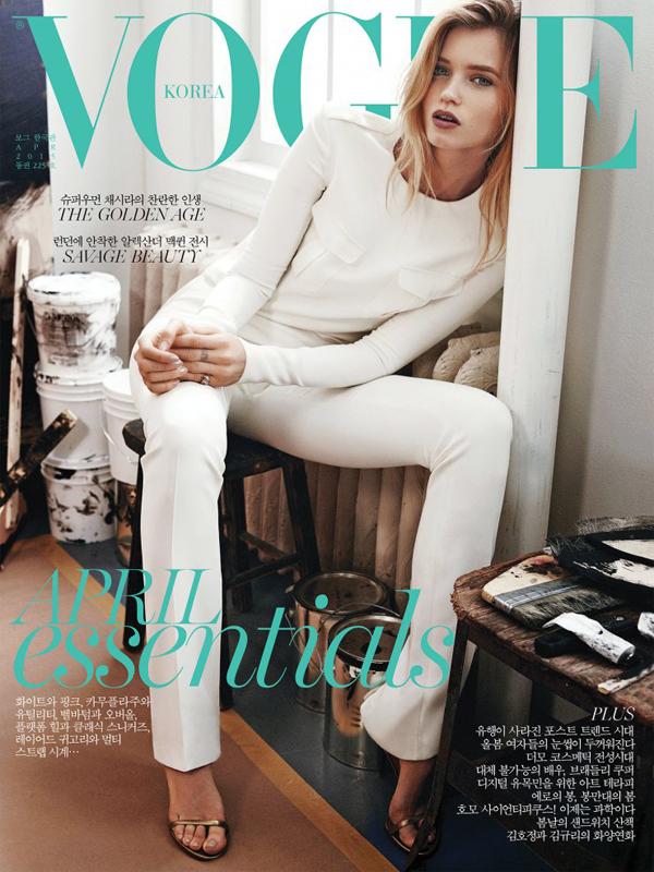 Эбби Ли Кершоу на обложке Vogue Корея, апрель 2015