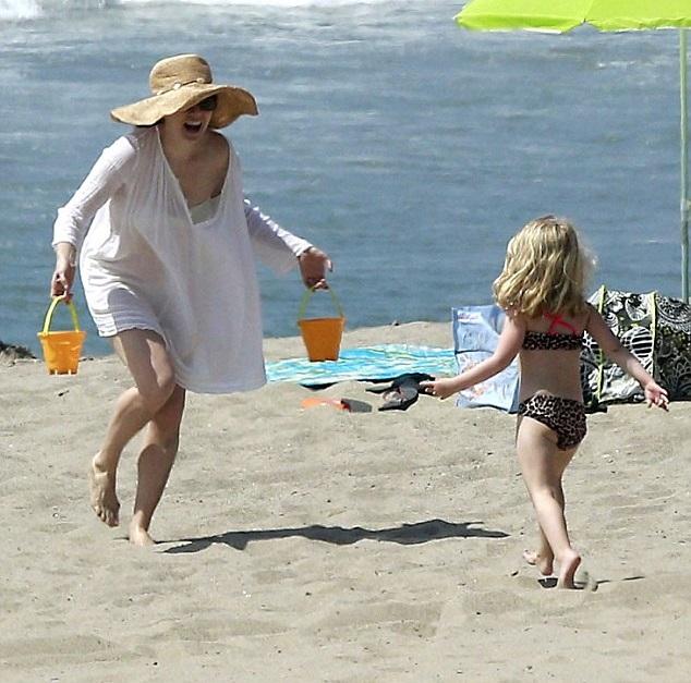 Эми Адамс с дочкой Авианой