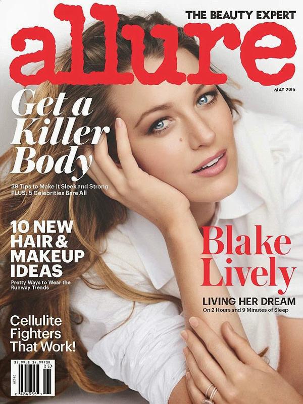 Блейк Лайвли на обложке Allure, май 2015