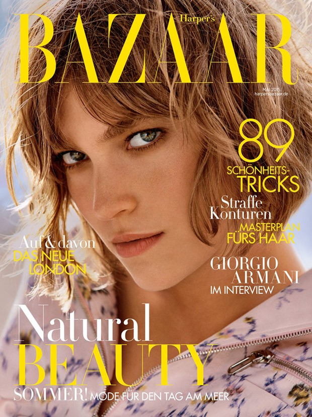 Аризона Мьюз на обложке Harper's Bazaar Германия, май 2015