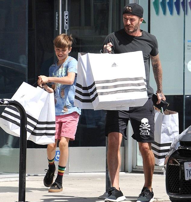 Дэвид Бекхэм с сыном