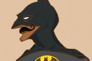 Бэтмен с дивными колоритными индийскими усиками. На торговца опиумом похож немножко...