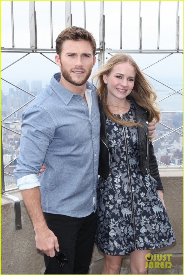 Scott Eastwood and Britt Robertson promote the film 'The Longest Ride'