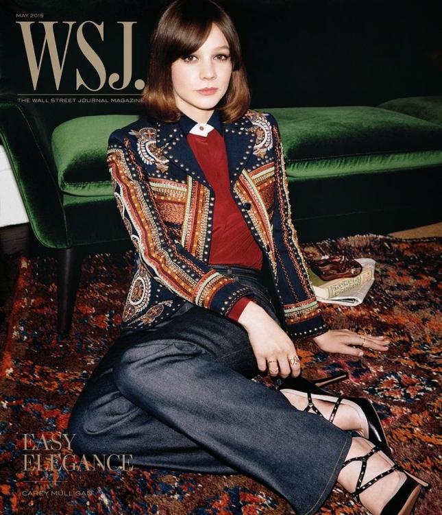 Кэри Маллиган на обложке WSJ Magazine, май 2015