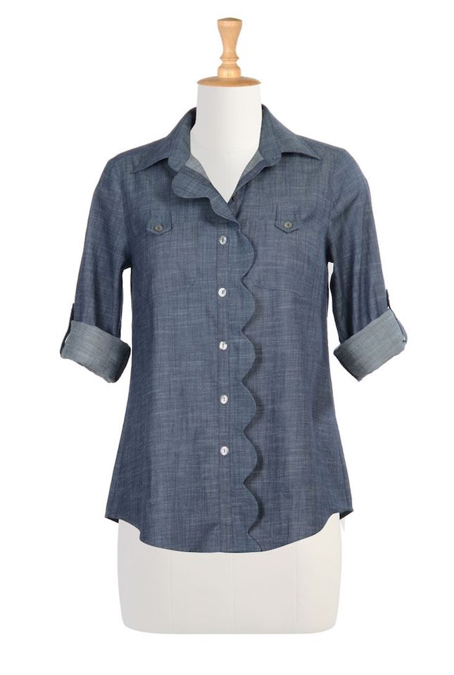 Chambray-Scallop-Trim-Shirt