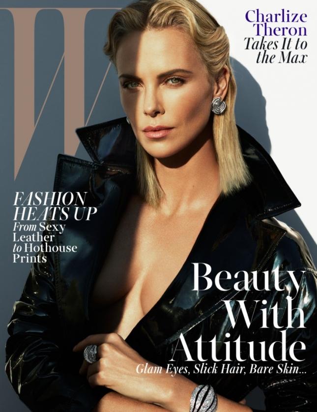 Шарлиз Терон на обложке W Magazine