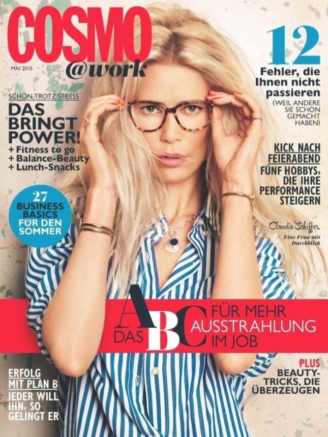 Клаудия Шиффер на обложке Cosmopolitan Германия, май 2015