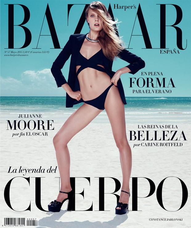 Констанс Яблонски на обложке Harper's Bazaar Испания, май 2015