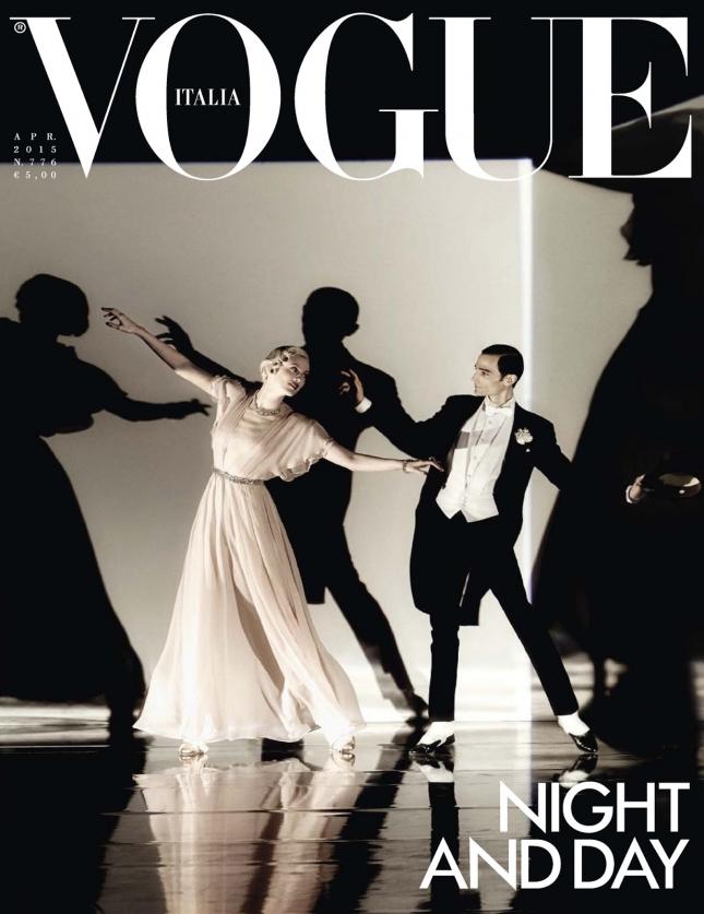 Карен Элсон на обложке Vogue Италия, апрель 2015