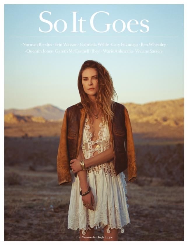 Эрин Уоссон на обложке So It Goes Magazine