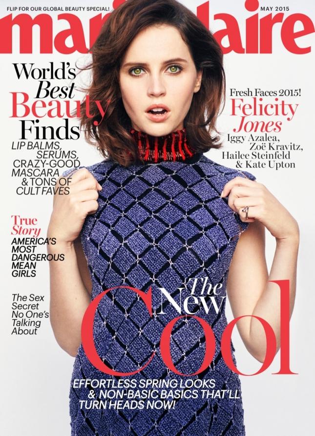 Фелисити Джонс на обложке Marie Claire US, май 2015