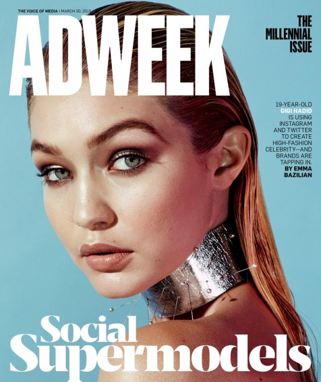 Джиджи Хадид на обложке Adweek