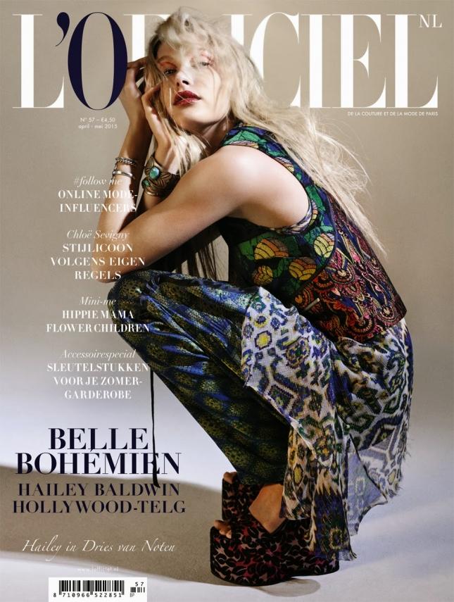 Хейли Болдуин на обложке L'Officiel Нидерланды, май 2015
